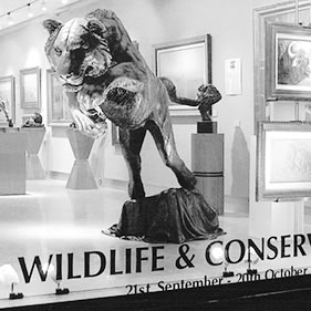 LIFE SIZE TIGER - ON EXHIBTION AT THE HALCYON GALLERY, BRUTON STREET, MAYFAIR, LONDON<br />click to enlarge