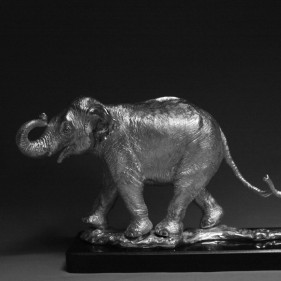 Indian Elephants - Tales of India In Sterling Silver<br />click to enlarge