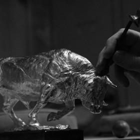 Sterling Silver Bull<br />click to enlarge